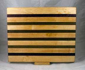 """Cutting Board 17 - 142. Hard Maple & Jatoba. 14"""" x 18"""" x 1-1/4""""."""