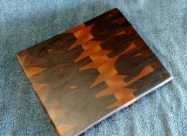 "Small Board 18 - 202. Black Walnut. Edge Grain. 9"" x 11"" x 1""."