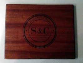 Engraved 18 - 002. Sapele. Commissioned piece.
