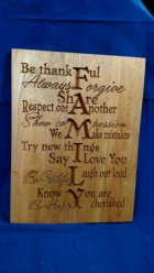 """CNC Sign 18 - 04 - Family. Hard Maple. 12"""" x 16"""" x 3/4"""". Sold in it's first showing."""