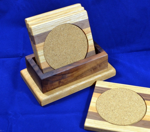 Coasters 18 - 25. Hard Maple, Black Walnut & Honey Locust.