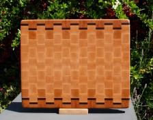 """Cutting Board 18 - 716. Cherry, Black Walnut & Hard Maple. End grain. 12"""" x 15"""" x 1-1/4""""."""
