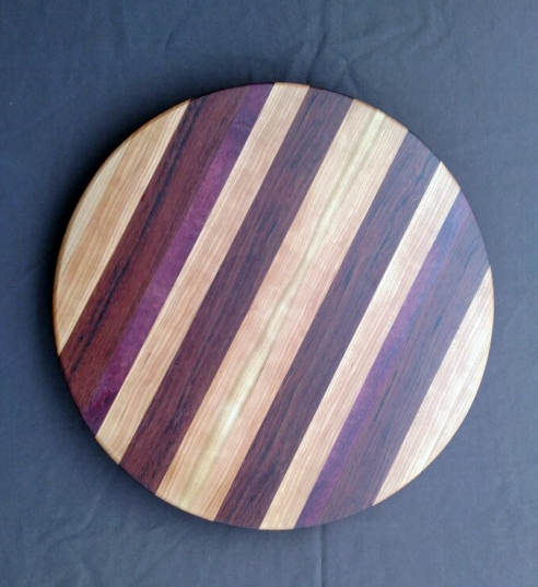 Lazy Susan 18 - 08. Hard Maple, Cherry, Jatoba & Purpleheart.