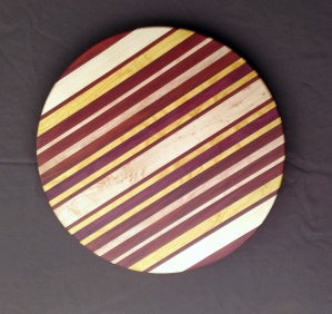 Lazy Susan 18 - 11. Purpleheart, Hard Maple, Yellowheart & Bloodwood.