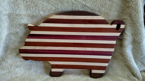 Pig 18 - 603. Black Walnut, Hard Maple, Purpleheart & Bloodwood.