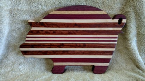 Pig 18 - 604. Purpleheart, Hard Maple & Bubinga.