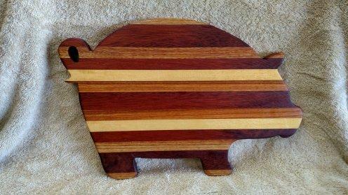 Pig 18 - 604 . Oak, Merbau, Canarywood & Yellowheart.