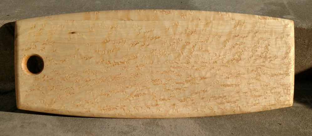 "Charcuterie 18 - 701. Birds Eye Maple. 9"" x 20"" x 3/4""."