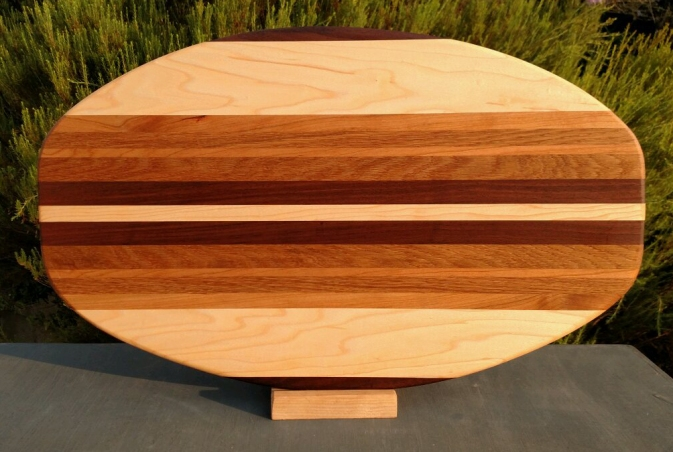 Large Serving Piece 18 - 01. Black Walnut, Hard Maple, Cherry & White Oak.