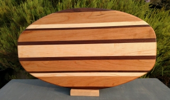 Large Serving Piece 18 - 12. Black Walnut, Cherry & Hard Maple.