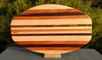 Large Serving Piece 18 - 13. Hard Maple, Cherry & Black Walnut.