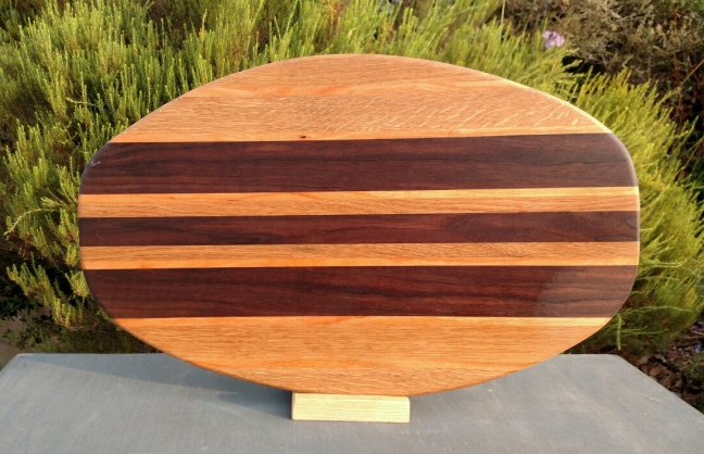 Large Serving Piece 18 - 16. Cherry & Black Walnut.